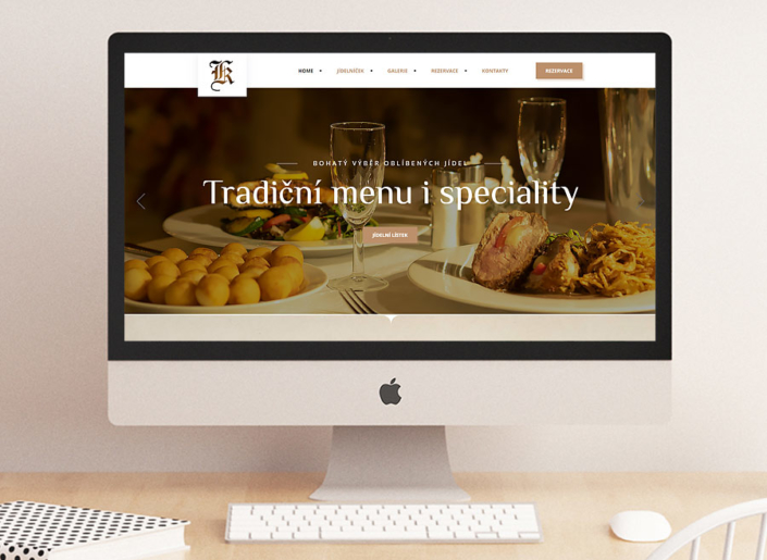 webdesign, SEO, responzivní stránky, restaurace Koliba