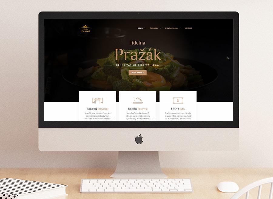 webdesign, SEO, responzivní stránky, restaurace Pražák